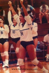 Jen playing for Hofstra University, 1990