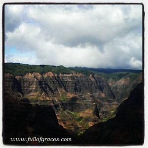 Waimea Canyon, smack in the middle of Kauai.