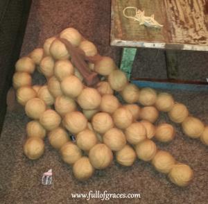 Dryer balls ready for felting