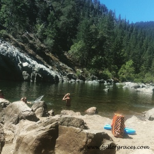 This was a playdate. At a swimming hole! Oregon rocks!